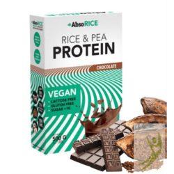AbsoRice Vegán rizs és borsó növényi fehérje CSOKOLÁDÉ 500 g