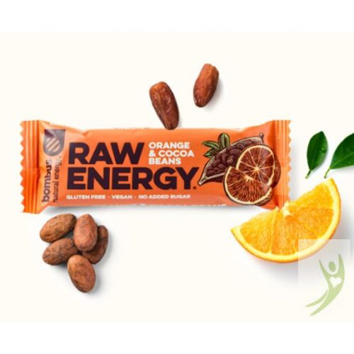 Bombus RAW ENERGY - Nyers Energia szelet NARANCS&KAKAÓ 50 g