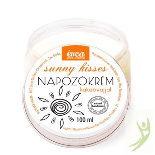 Évca Natúr Napozókrém kakaóvajjal SPF20 - 100 ml (cink-oxiddal)