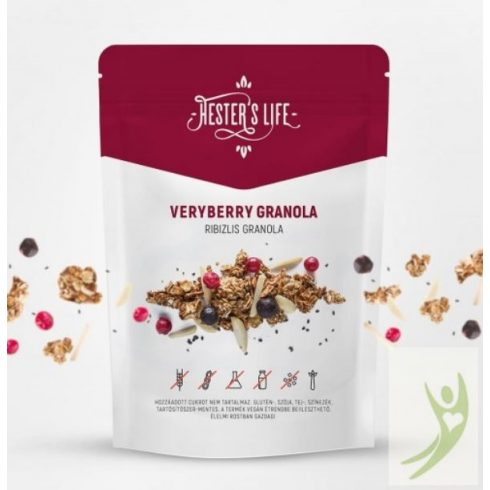 Hester's Life VERYBERRY Granola - Gluténmentes Ribizlis Granola 60 g