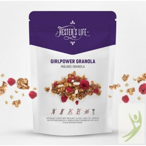 Hester's Life GIRLPOWER Granola - Gluténmentes Málnás Granola 60 g