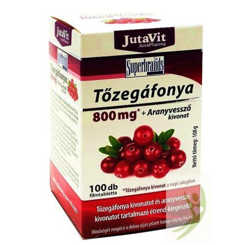 JutaVit Tőzegáfonya és Aranyvessző tabletta 100 db