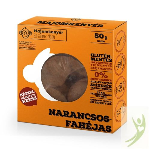 Majomkenyér NARANCSOS-FAHÉJAS keksz 50 g