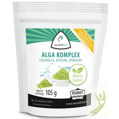 MentalFitol ALGA komplex - Spirulina Chlorella Kitozán tartalmú superfood 105 g