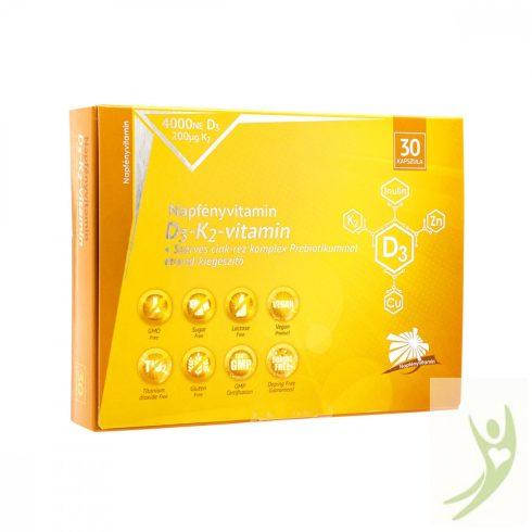 Napfényvitamin D3-K2-vitamin szerves cink-réz komplex Prebiotikummal 30 db