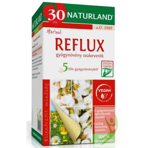 Naturland Reflux gyógynövény teakeverék 20x1,4 g filter