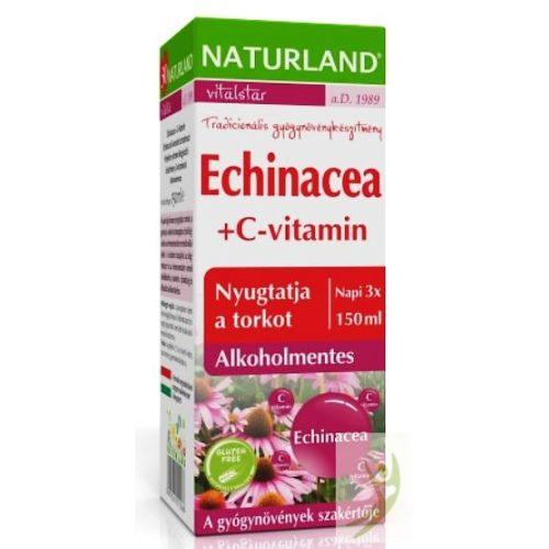 Naturland  Echinacea +C-vitamin gyógynövénykészítmény 150 ml