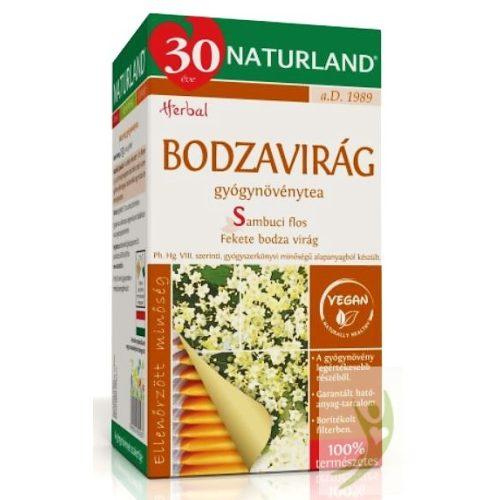 Naturland Bodzavirág gyógynövénytea 25x1,0 g filter