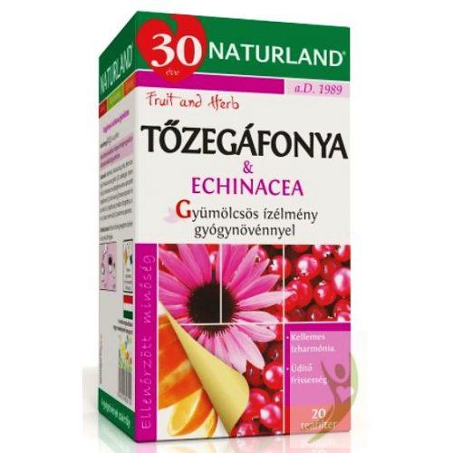 Naturland Tőzegáfonya-Echinacea gyümölcstea 20x2 g filter