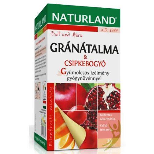 Naturland Gránátalma-Csipkebogyó gyümölcstea 20x2 g filter