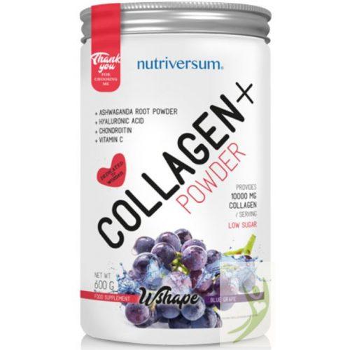 Nutriversum WSHAPE Collagen+  Kollagén komplex KÉKSZŐLŐ ízben 600 g