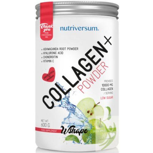 Nutriversum WSHAPE Collagen+  Kollagén komplex ZÖLDALMA ízben 600 g