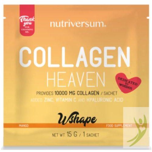 Nutriversum WSHAPE Collagen HEAVEN - Kollagén komplex Mangó ízben 15 g