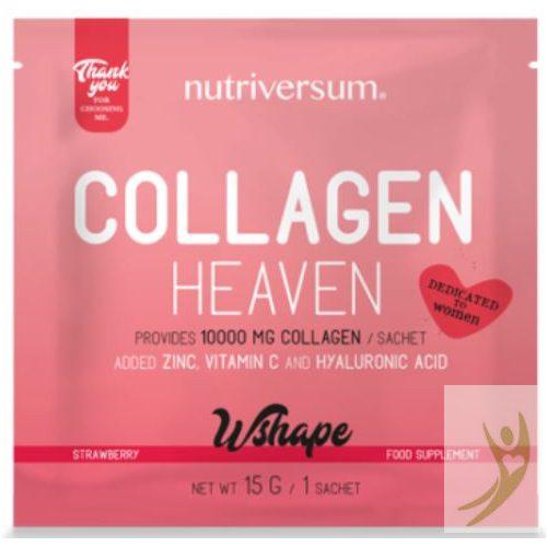 Nutriversum WSHAPE Collagen HEAVEN - Kollagén komplex Eper ízben 15 g
