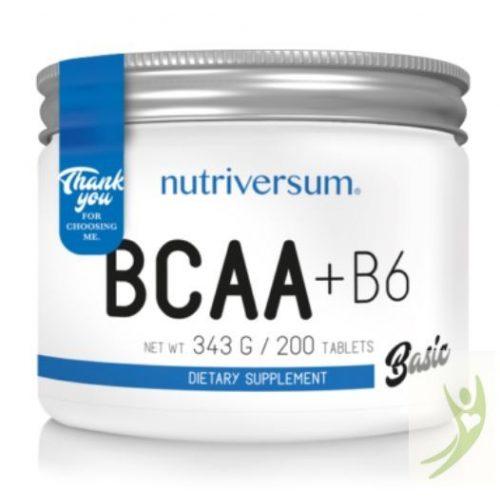 Nutriversum BCAA + B6 200 tabletta