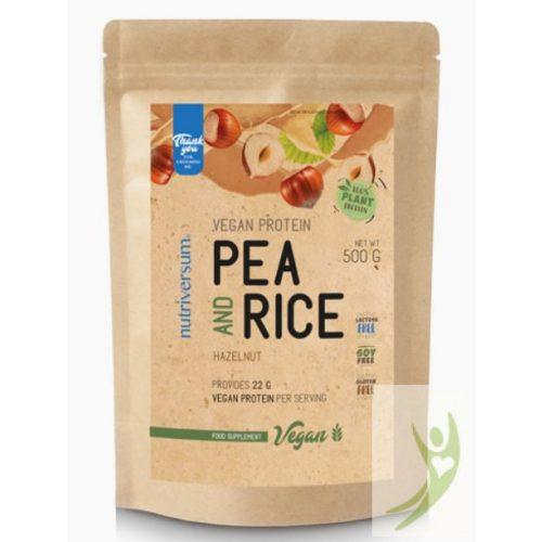 Nutriversum VEGAN Pea & Rice protein - Vegán rizs és borsó növényi fehérje MOGYORÓ 500 g