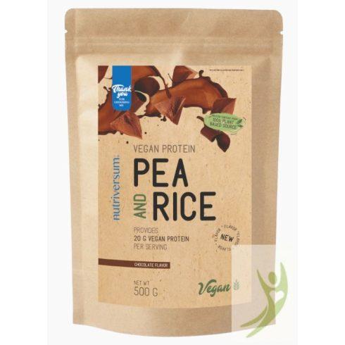 Nutriversum VEGAN Pea & Rice protein - Vegán rizs és borsó növényi fehérje CSOKOLÁDÉ 500 g