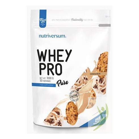 Nutriversum PURE Whey Pro Cookie&Cream protein 1000 g
