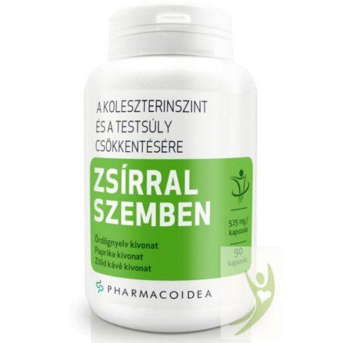 Pharmacoidea ZSÍRRAL szemben - Ördögnyelv-Paprika-Zöld kávé kivonat 90 db