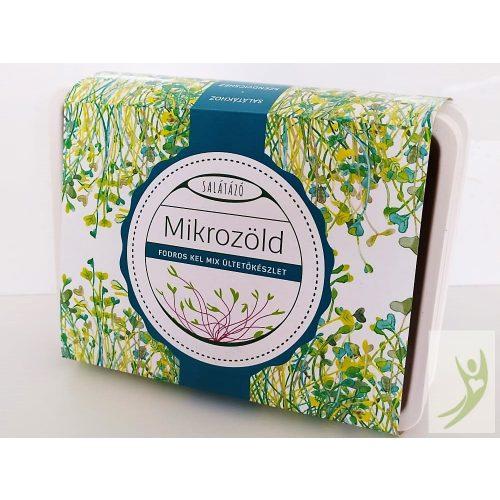 Salátázó Mikrozöld ültetőkészlet FODROS KEL MIX - műanyag tálcás