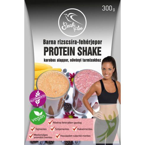 Szafi Free Barna rizscsíra-fehérjepor Karobos Protein Shake gluténmentes 300 g