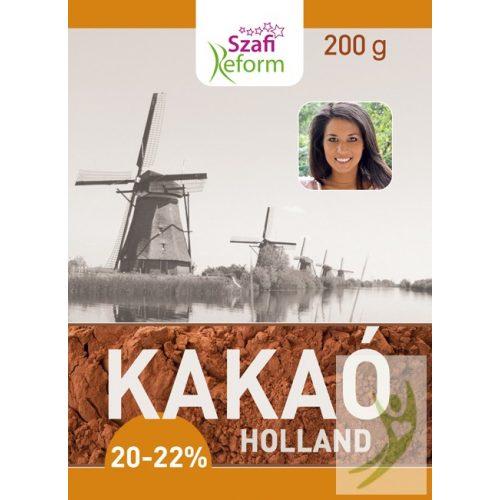 Szafi Reform Holland Kakaópor 20-22% kakaóvaj tartalommal (gluténmentes) 200 g