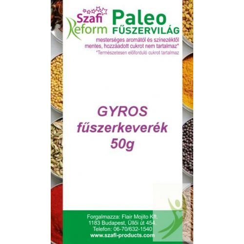 Szafi Reform Gluténmentes Paleo GYROS fűszerkeverék 50 g