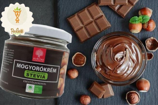 Almitas csokoládés mogyorókrém steviaval