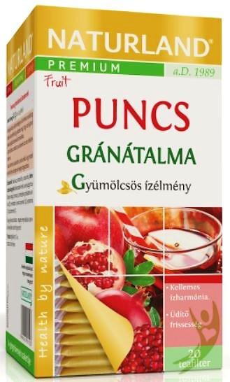 Naturland Prémium Puncs Gránátalma teakeverék (gyümölcstea) 20x2 g filter