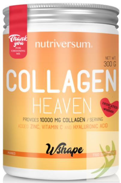 Nutriversum WSHAPE Collagen HEAVEN - Kollagén komplex Mangó ízben 300 g