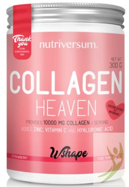 Nutriversum WSHAPE Collagen HEAVEN - Kollagén komplex Eper ízben 300 g