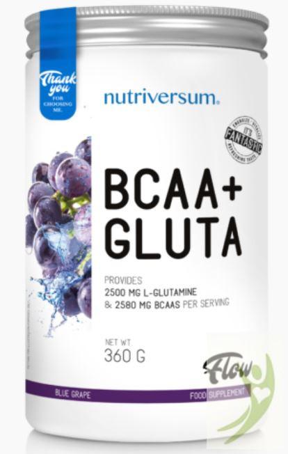 Nutriversum FLOW BCAA+GLUTA Kékszőlő 360 g