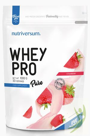Nutriversum PURE Whey Pro Eper protein 1000 g