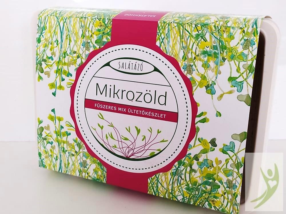 Salátázó Mikrozöld ültetőkészlet FŰSZERES MIX - műanyag tálcás
