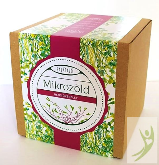 Salátázó Mikrozöld ültetőcsomag Ajándéknak - FŰSZERES